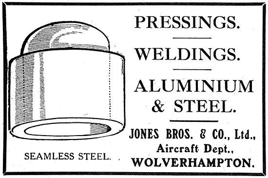 Jones Brothers & Co. Wolverhampton. Pressings & Weldings