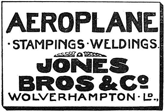Jones Bros & Co.  Aircraft  Pressings & Weldings