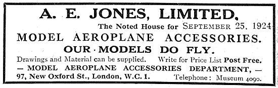 A.E.Jones Model Aircraft