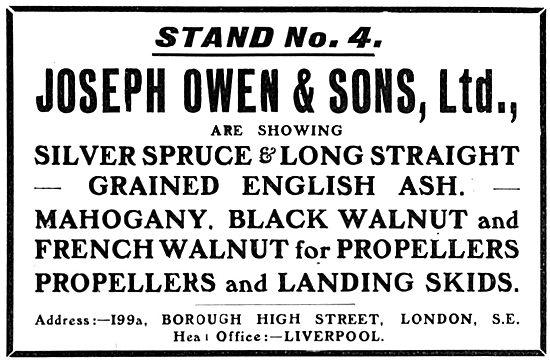 Joseph Owen: Timber For Aircraft Constructors