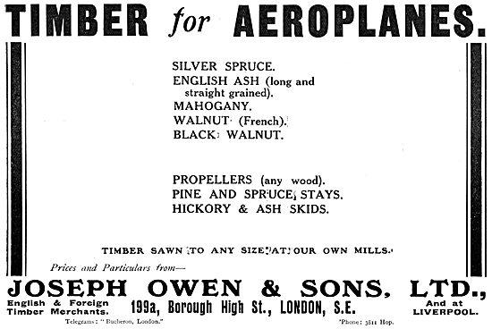 Joseph Owen: Wood For Aircraft Constructors