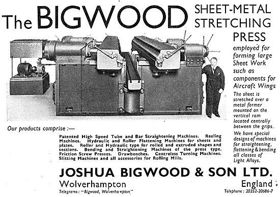 Joshua Bigwood - Sheet Metal Stretching Press