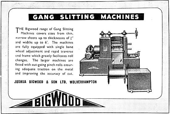 Joshua Bigwood Machines Tools - Gang Splitting Machines