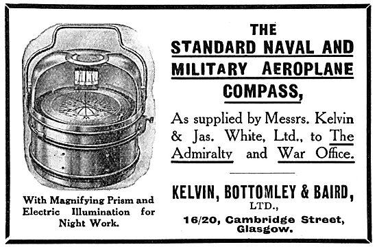 Kelvin Bottomley & Baird . KBB Military Aeroplane Compass