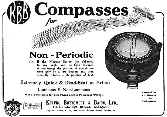 KBB Non-Periodic Aircraft Compass - Dead Beat Action