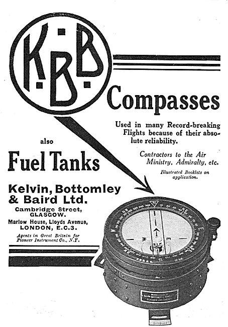 KBB Aircraft Instruments - Compasses - Fuel Level Indicators