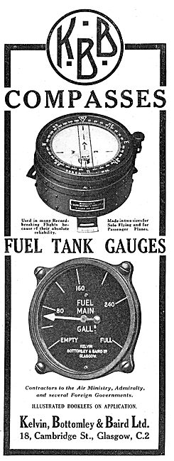 KBB Aircraft Instruments - Compasses - Fuel Gauges