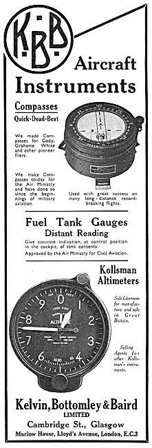 KBB Aircraft Instruements - Fuel Gauges, Compasses & Altimeters