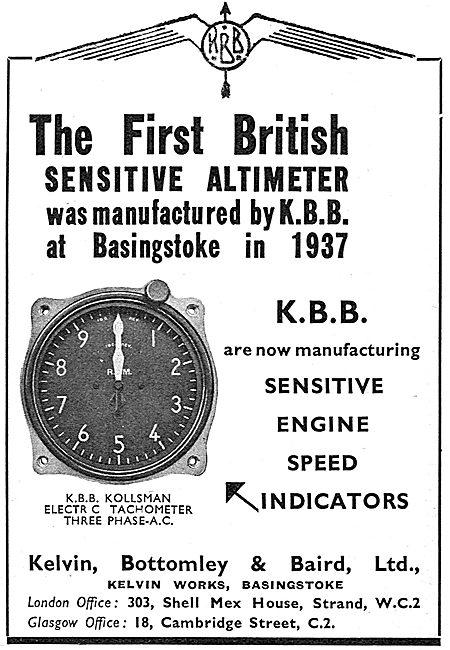 KBB Kollsman Aircraft Sensitive Altimeter