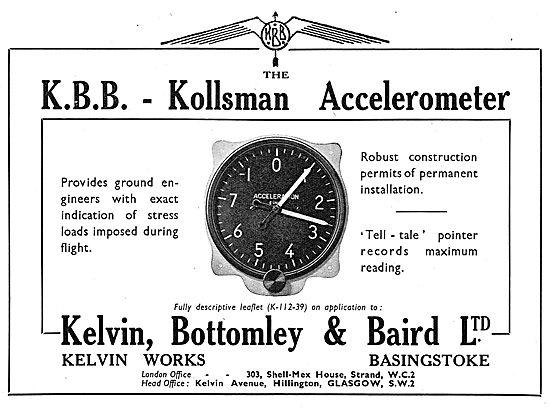 KBB Kollsman Aircraft Accelerometer