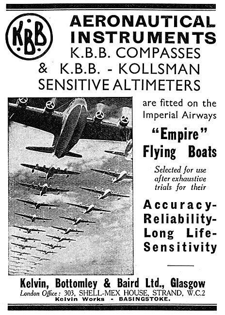 KBB Kelvin Aircraft Instruments - Kollsman