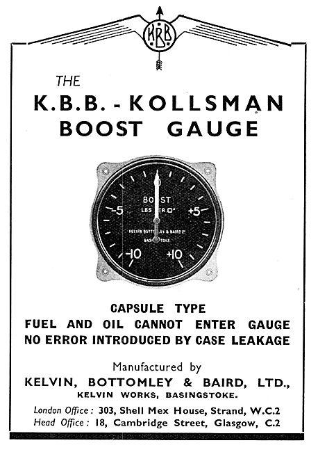 KBB Kollsman Boost Gauge 1939