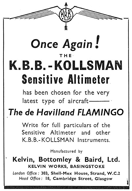 KBB Kollsman Sensitive Altimeters