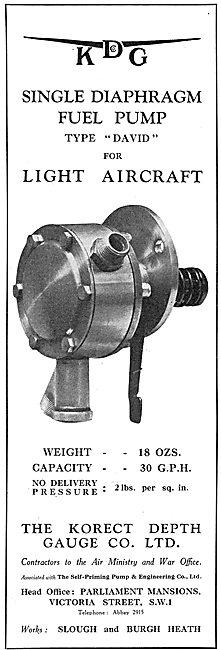 KDG - Aircraft Fule Pump Type