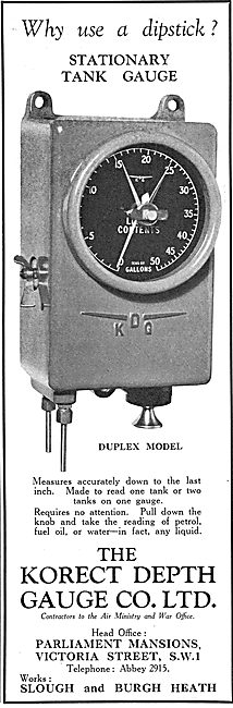 KDG - Stationary Tank Depth Gauge - Duplex Model