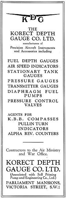 KDG - Aircraft Fuel Depth Gauges & Pressure Instruments