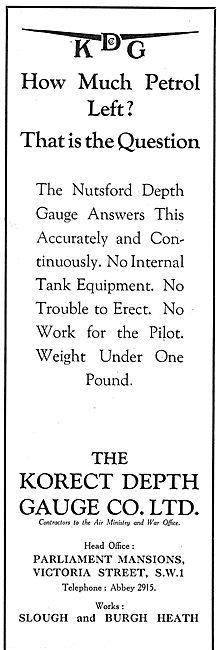 KDG - Aircraft Fuel Depth Gauge: The Nutsford Depth Gauge