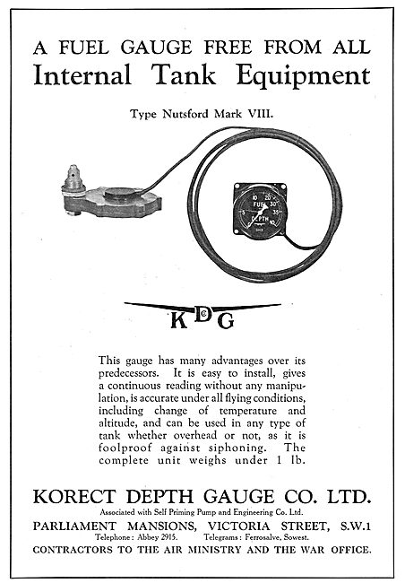 KDG - Aircraft Fuel Depth Gauge - Nutsford Mark VIII