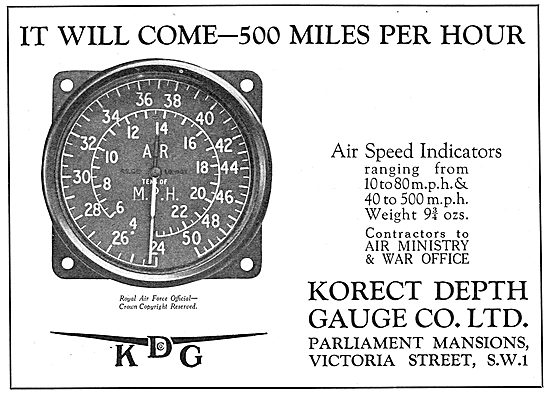 KDG - Aircraft Air Speed Indicator