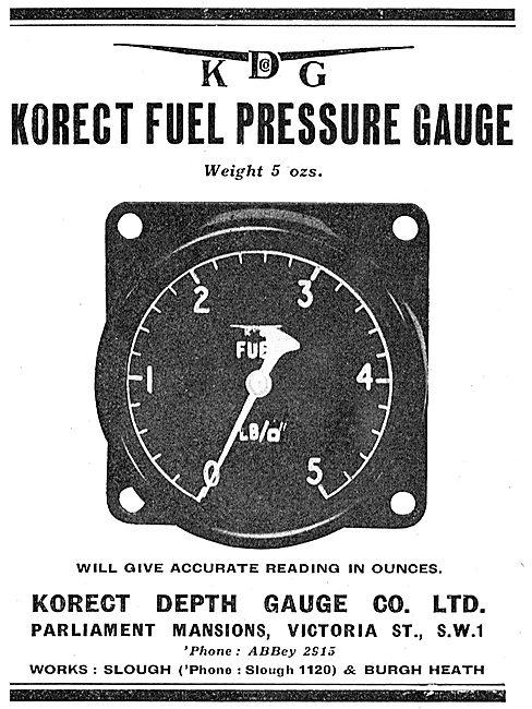 KDG - Aircraft Fuel Pressure Gauge