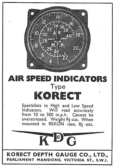 KDG - Aircraft Airspeed Indicator