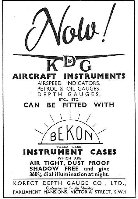 KDG - Aircraft Instruments - Bekon Instrument Cases
