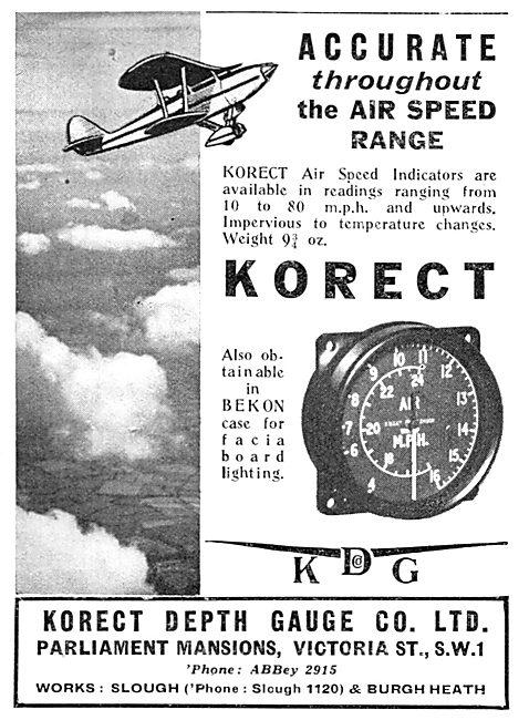 KDG - Korect -  Aircraft Instruments. Air Speed Indicator