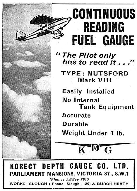 KDG - Aircraft Instruments. Korect Fuel Gauge