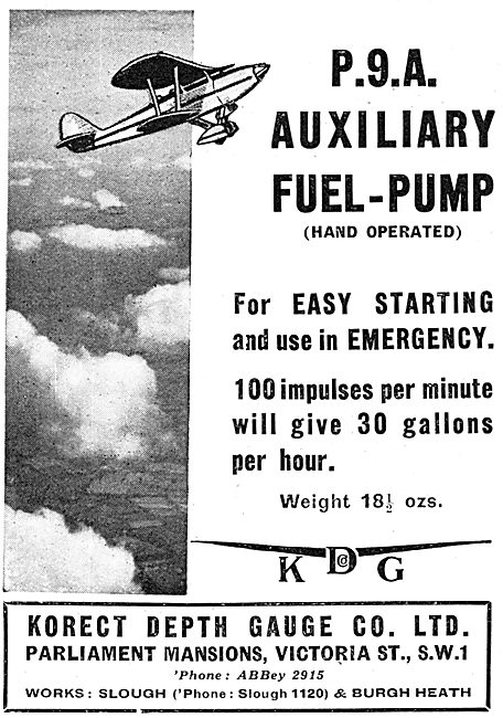KDG - Aircraft Instruments Korect P.9.A Auxiliary Fuel-Pump
