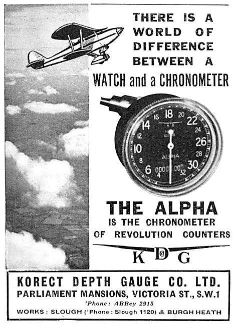 KDG - Aircraft Instruments Korect  Alpha Engine RPM Indicator
