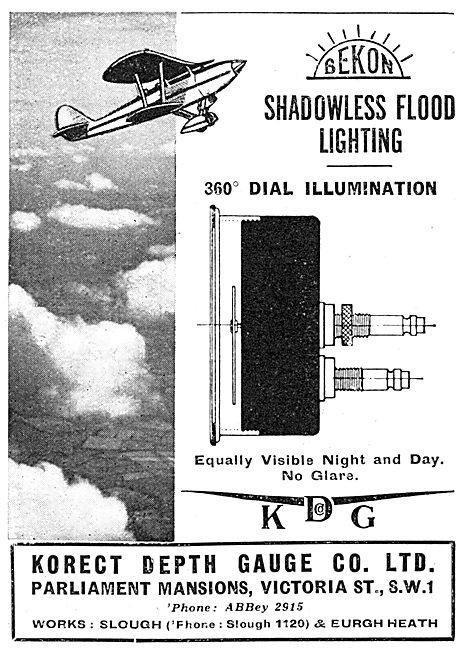 KDG - Aircraft Instruments  Korect BEKON Instrument Floodlighting