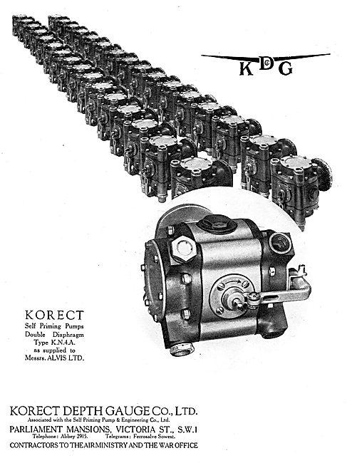 KDG - Korect Aircraft Instruments. Korect Self Priming Pumps. KN4