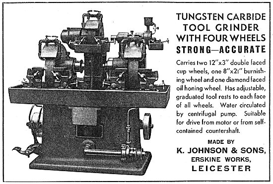 K.Johnson & Sons. Erskine Works. Leicester.  - Machine Tools