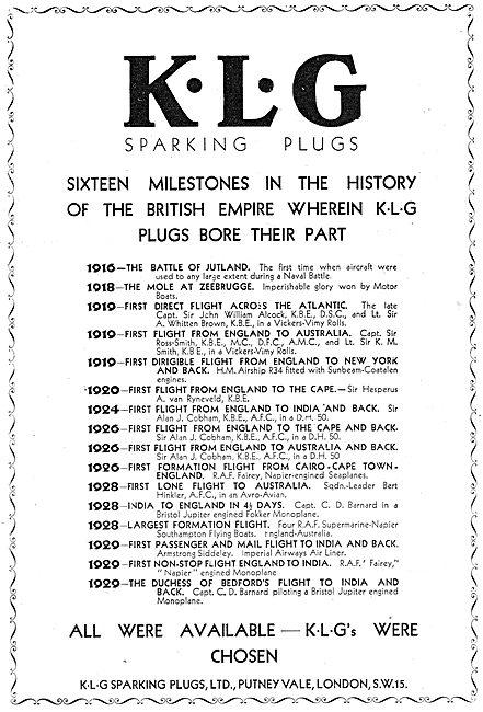 KLG Sparking Plugs - 16 Aviation Milestones