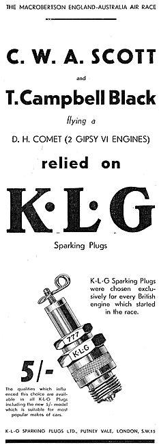 Scott & Campbell Black Chose KLG Sparking Plugs