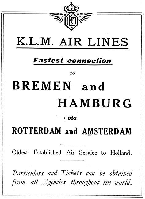 KLM Royal Dutch Air Lines 1925