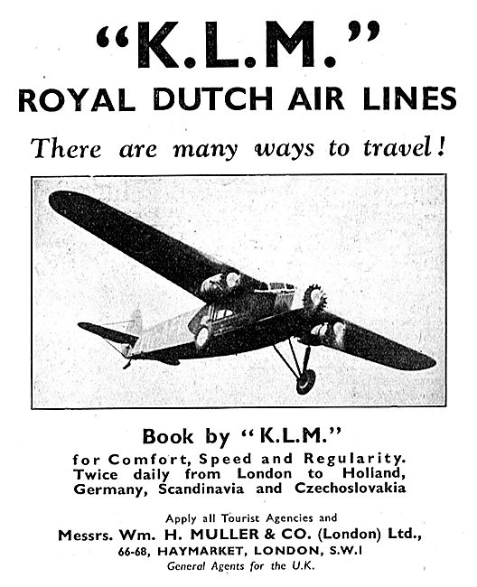 KLM Royal Dutch Air Lines 1933