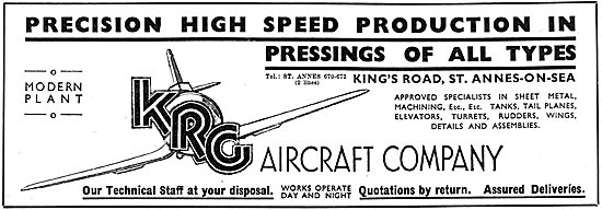 KRG Aircraft Company. Aeronautical Engineers