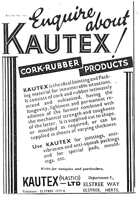 Kautex Cork Rubber Products For The Aircraft Industry