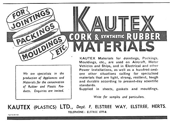 Kautex For Jointings Packings Mouldings Etc.