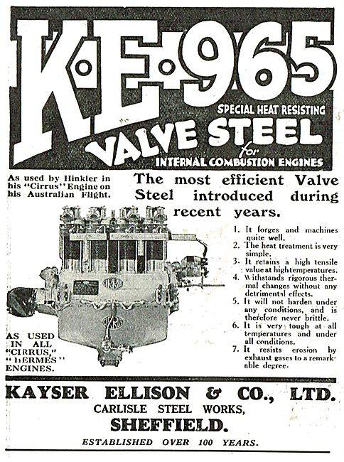Kayser Ellison & Co Ltd - KE 965 Steel For Aero Engines
