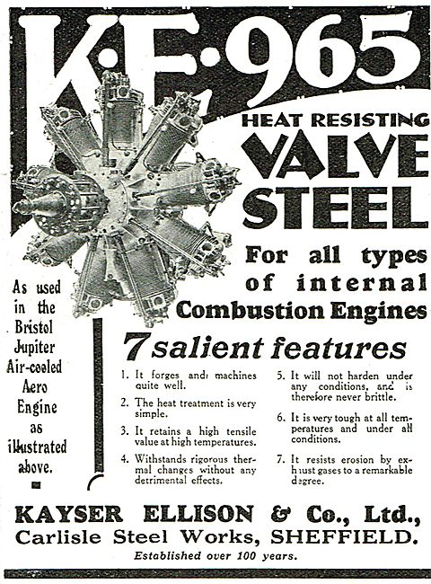Kayser Ellison & Co Ltd - Steel For Internal Combustion Engines