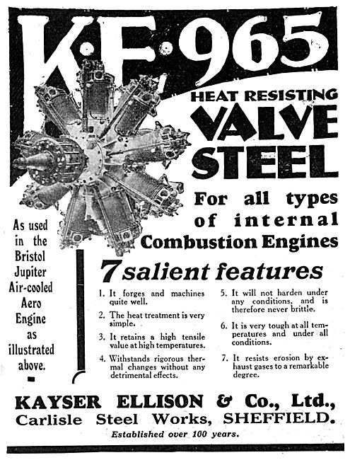 Kayser Ellison & Co Ltd - KE 965 Valve Steel For Aero Engines