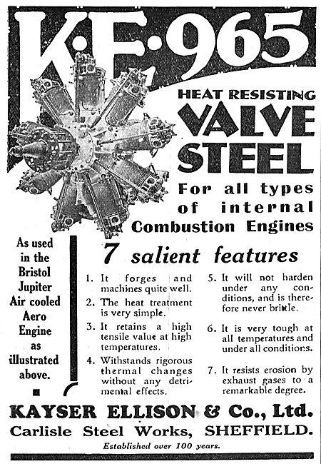 Kayser Ellison & Co Ltd - KE 965 Steel For Aero Engines