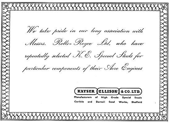 Kayser Ellison & Co Ltd - Steels