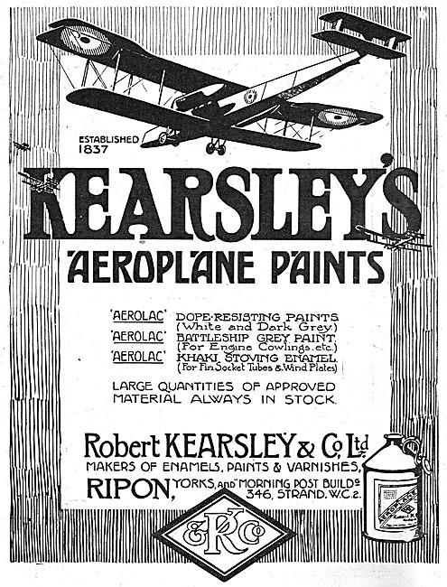 Robert Kearsley Aeroplane Paints & Varnishes