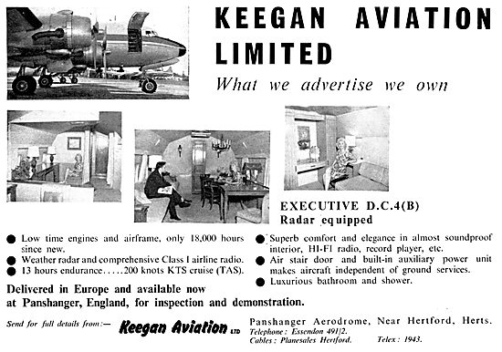 Keegan Aviation Aircraft Sales 1958