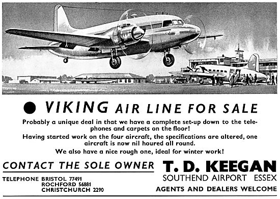 T.D.Keegan Southend. Viking Airline For Sale
