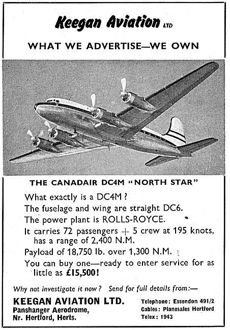 Keegan Aviation: Sales: Canadair DC4M