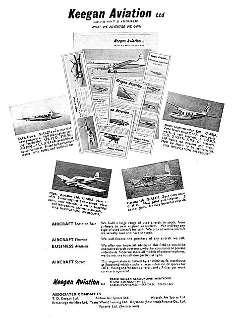 Keegan Aviation: Panshanger: Aircraft Sales, Finance & Spares